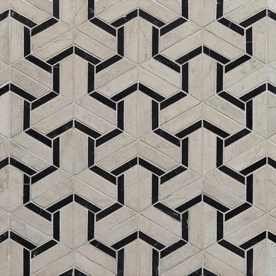 Art Deco Maze by Claybrook Interiors Ltd. | Natural stone tiles