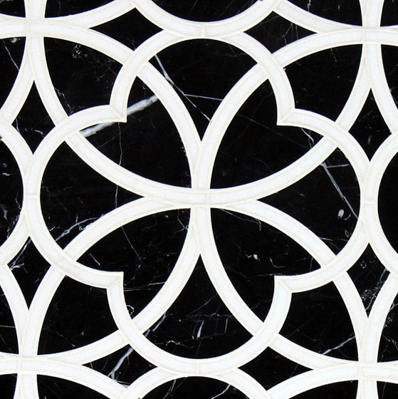 Marrakech Arabesque Stone Mosaics by Claybrook Interiors Ltd. | Natural stone tiles