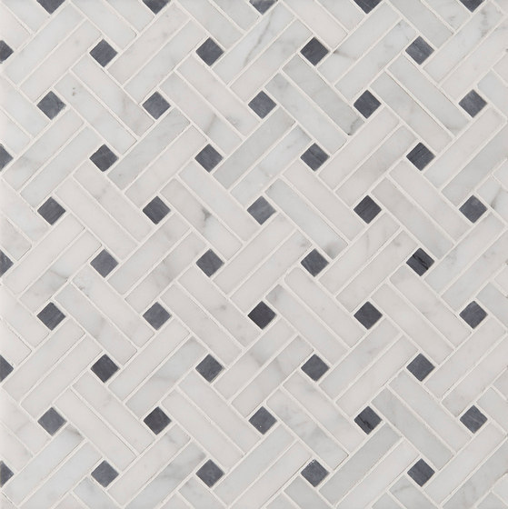 Manhattan Diagonal Weave de Claybrook Interiors Ltd. | Baldosas de piedra natural