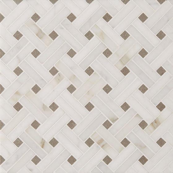 Manhattan Diagonal Weave by Claybrook Interiors Ltd. | Natural stone tiles