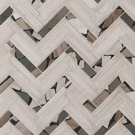 Safari Offset Herringbone de Claybrook Interiors Ltd. | Baldosas de piedra natural
