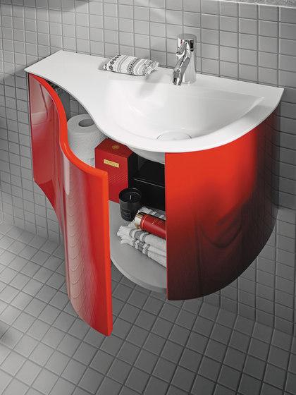 Sinea 2.0 | Mineral cast washbasin incl. vanity unit by burgbad | Vanity units