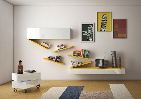 Diagolinea Shelf by LAGO | Wall storage systems