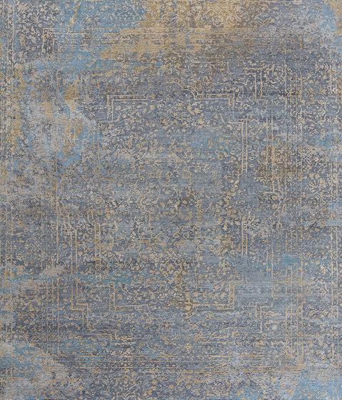 Elements Savonnerie gold blue grey de THIBAULT VAN RENNE | Alfombras / Alfombras de diseño