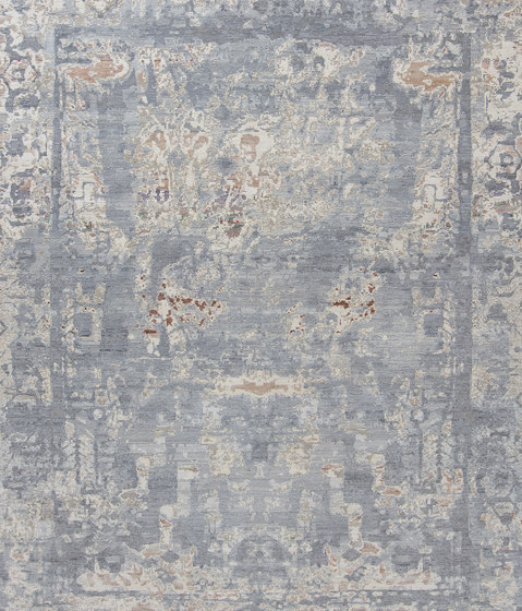 Elements V1 Aztec white grey by THIBAULT VAN RENNE | Rugs