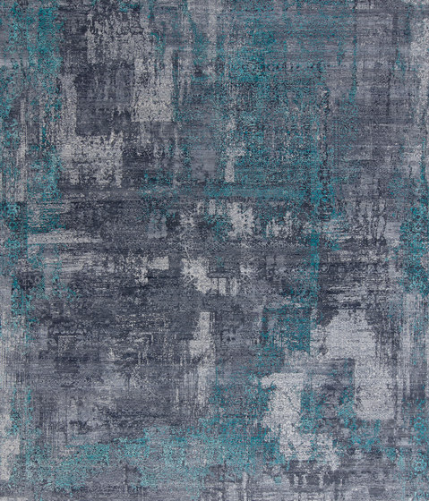 Immersive charcoal turquoise by THIBAULT VAN RENNE | Rugs