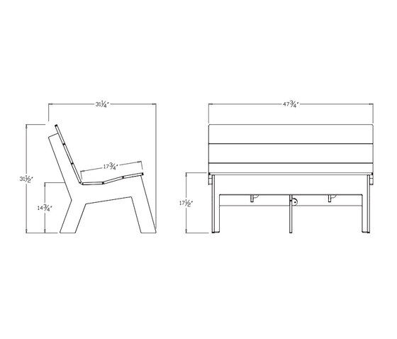 Fire Bench by Loll Designs | Garden benches
