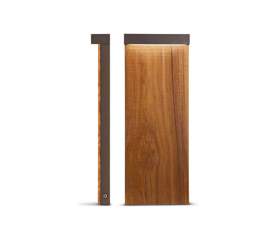 Look Wood Minilook bollard H 580 mm single emission de Simes | Luminaires LED