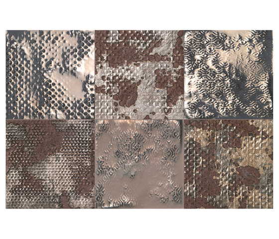 Maku Grid Metal Inserto Mix 6 di Fap Ceramiche | Piastrelle/mattonelle per pavimenti