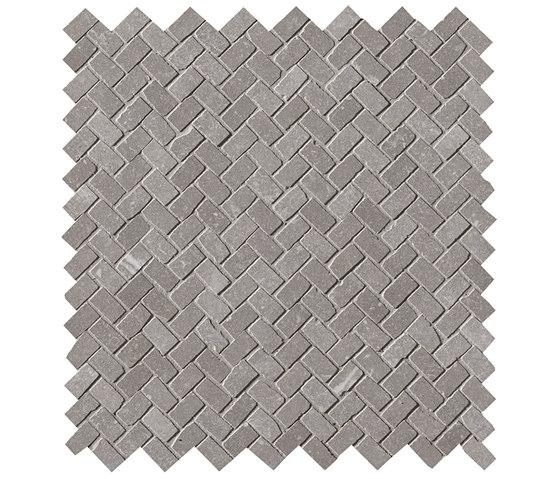 Maku Grey Gres Mosaico Spina Matt by Fap Ceramiche | Ceramic mosaics