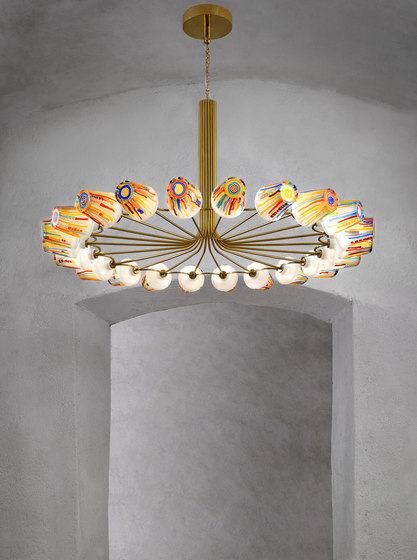 Candy | Ring Chandelier by LASVIT | Suspended lights