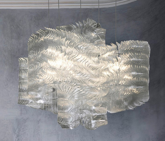 Plisse Cloud | Large by LASVIT | Suspended lights