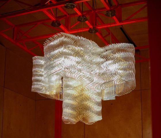 Plisse Cloud | Golden by LASVIT | Suspended lights