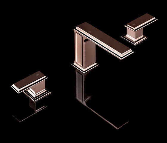 Gessi Fascino Widespread Copper Faucet by Gessi USA   Wash basin taps