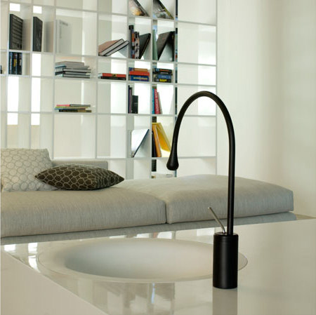 Gessi Goccia Deck-Mount Faucet and Drop-in Lav by Gessi USA | Wash basin taps