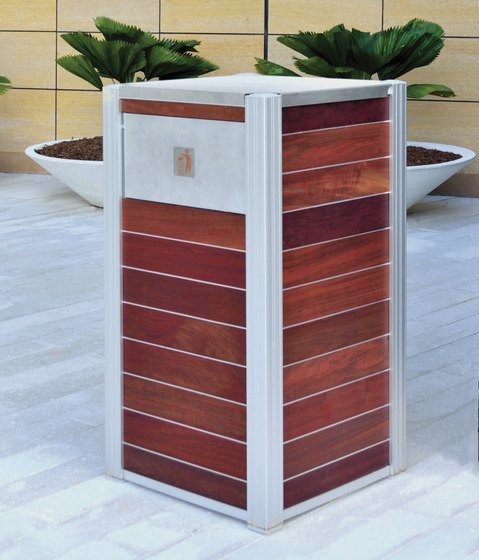OPUS Trash and Recycling Bins by DeepStream Designs | Waste baskets