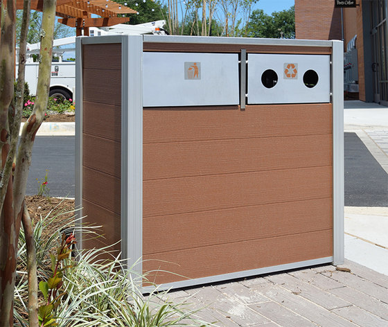 Oahu Trash and Recycling Bins by DeepStream Designs | Waste baskets