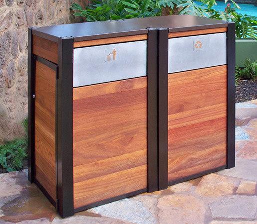 Opus & Oahu Recycling & Trash Receptacles di DeepStream Designs   Bidoni per immondizia