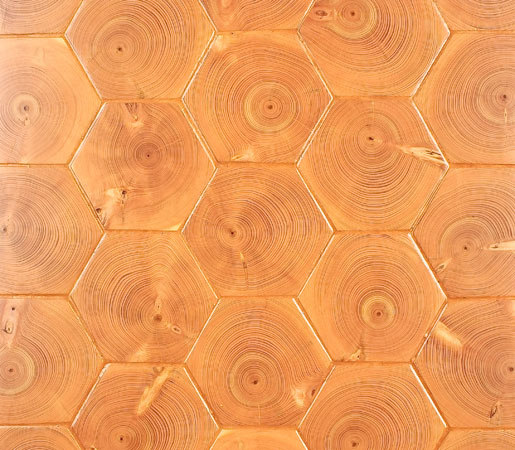 Fir End Grain Hexagon by Kaswell Flooring Systems | Wood flooring