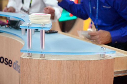StandOff Barrels - Acrylic Raised Counter by Gyford StandOff Systems® | Counters