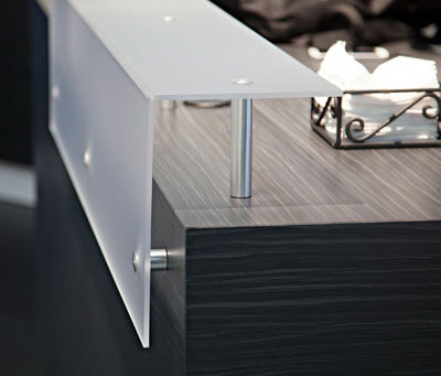 Glass Raised Counter Desk by Gyford StandOff Systems® | Counters