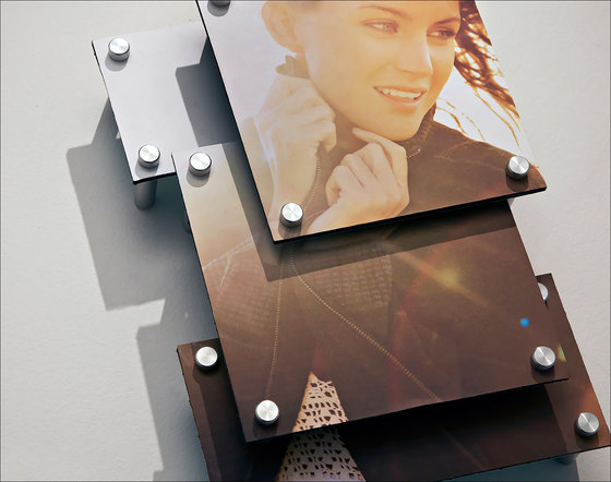Layered Photo using StandOffs by Gyford StandOff Systems® | Glass holders