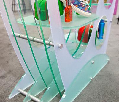PLEXIGLASS Shelving System Hardware by Gyford StandOff Systems®   Glass shelf brackets