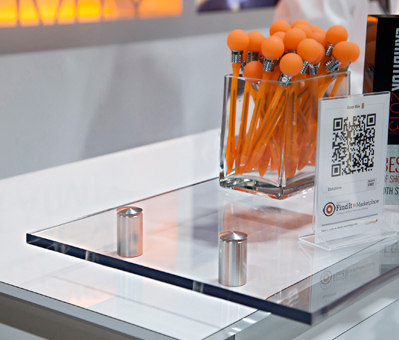 Raised Glass Countertop by Gyford StandOff Systems® | Counters