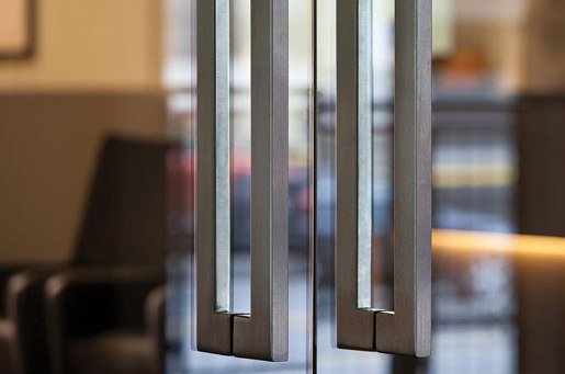 Tubular Door Pulls by Forms+Surfaces® | Pull handles for glass doors