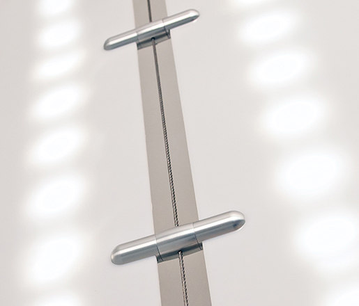 Wire Light Diffuser Hardware by Gyford StandOff Systems® | Curtain cable systems