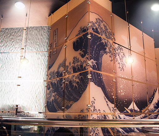 Wire Suspended Art Panels by Gyford StandOff Systems® | Curtain cable systems