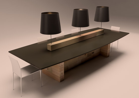 Craftwand study table design contract tables from craftwand architonic for Table bureau design