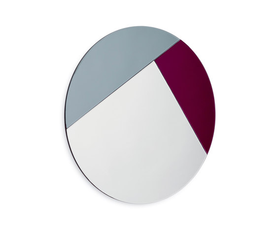 Nouveau 90 silver / midtnight blue / burgundy by Reflections Copenhagen | Mirrors