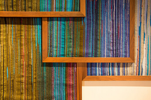Custom Hand Woven Fabric Panels von Leslie Ann Wigon Art & Design | Wanddekoration