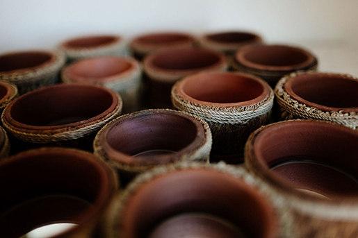 Custom Pottery de Leslie Ann Wigon Art & Design | Candelabros