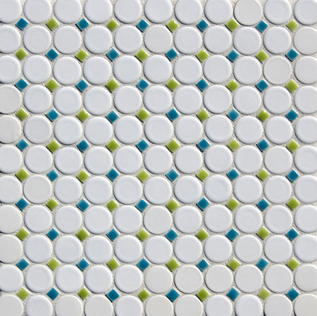 "1"" Circle with Dots Mosaic by Pratt & Larson Ceramics 