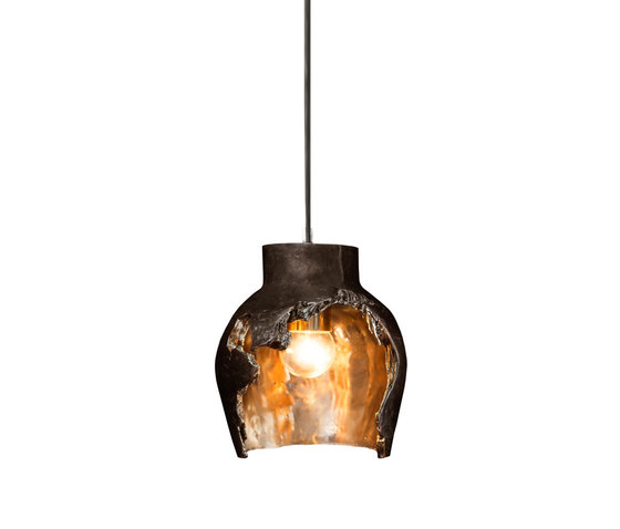 Decay Pendant 01 in Pot Ash & Polished Bronze by Matthew Shively | General lighting