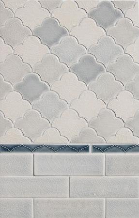 Mosaic Scalloped Fan Glazed Ceramic Tile by Pratt & Larson Ceramics | Ceramic mosaics