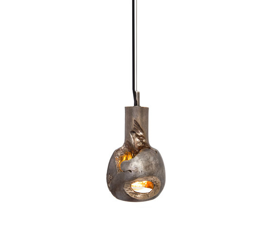 Decay Pendant 05 in Silver Nitrate & Polished Bronze by Matthew Shively | General lighting