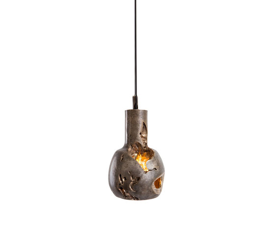 Decay Pendant 05 in Silver Nitrate & Polished Bronze by Matthew Shively   General lighting
