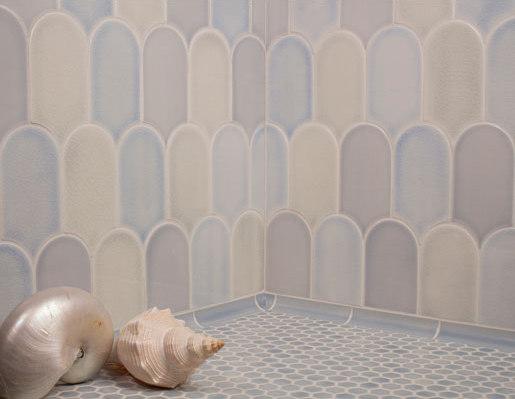 Shapes - Large Elongated Fan by Pratt & Larson Ceramics | Ceramic tiles