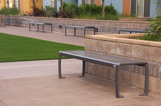 MLB970B-M Backless Bench by Maglin Site Furniture | Benches