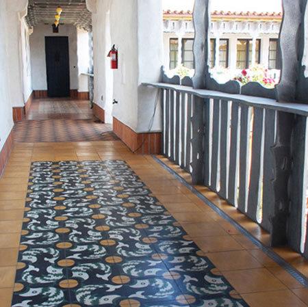 Cement Tile Fish & Egg by Original Mission Tile | Concrete tiles