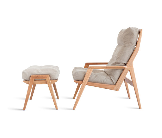 Ana Lounge Chair / Footstool by Sossego   Armchairs