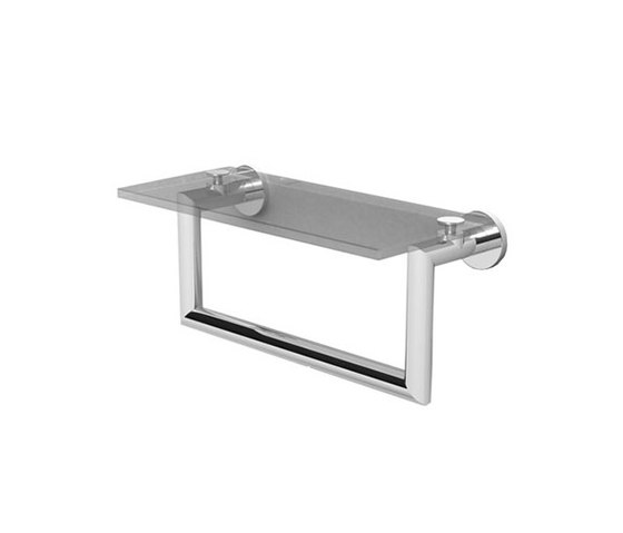 Kubic Shelf with Towel Bar by Ginger | Towel rails