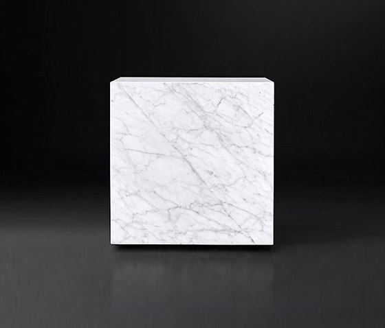 Marble Plinth Cube Side Table Coffee Tables From Rh