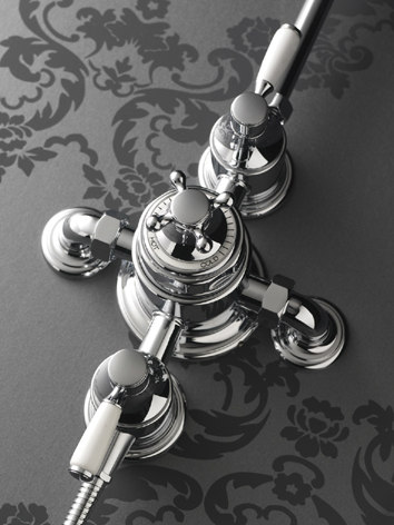 Fairfield exposed shower valve by Samuel Heath   Shower controls