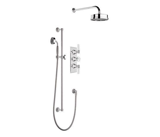 Style Moderne concealed shower trim set by Samuel Heath   Shower controls