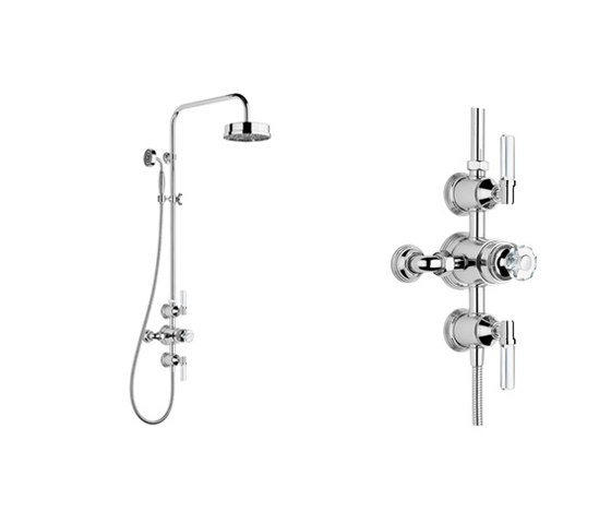 "Style Moderne Luxe exposed 1/2"" thermostatic shower set by Samuel Heath 