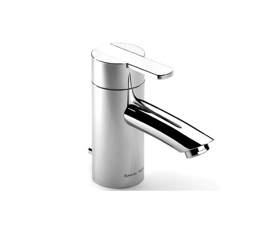Xenon single lever basin mixer with pop-up waste by Samuel Heath | Wash basin taps